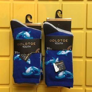 GoldToe Youth Socks. Size L
